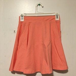 So Skater Skirt Small Pink Stripe